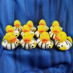 12 Soccer Futbol Rubber Ducks - White and Black