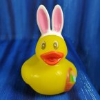 Bright Eyed Easter Bunny Duck and Basket