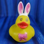 Bright Eyed Bunny Duck with Pink Bow