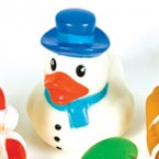 Snowman in Blue Rubber Duck