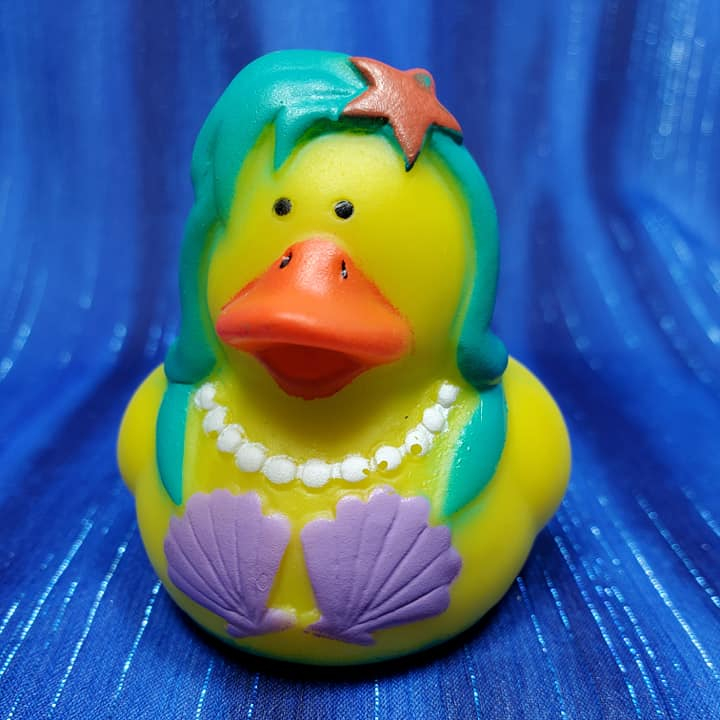Mermaid Rubber Duck Teal - Click Image to Close