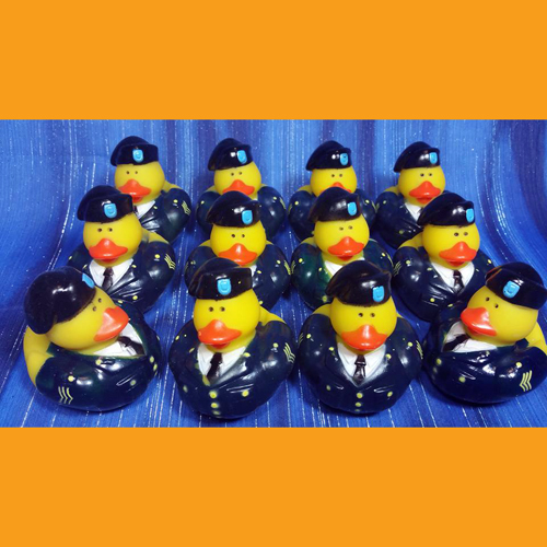 12 US Army Professional Navy Blue Uniform Rubber Ducks - Click Image to Close