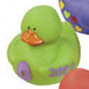 Green Number 0 Rubber Duck
