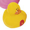 Yellow Number 0 Rubber Duck