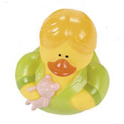 Retired Pajama Party Rubber Duck - Linda