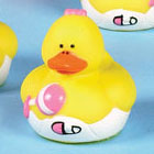 Mini Baby Girl Rubber Duck with Rattle